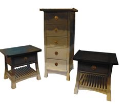 Ombre painted furniture set