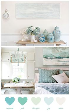 C oastal Living in Sand & Seafoam     This coastal duo is a fabulous combination for beach ...