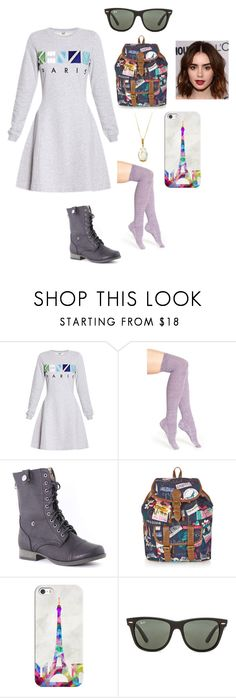 """""""travel to Paris"""" by vic-valdez on Polyvore featuring beauty, Kenzo, Stance, ANNA, Accessorize, Casetify, Ray-Ban and Vianna B.R.A.S.I.L"""