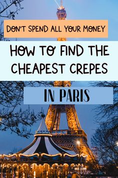 Don't Miss this Secret Local Crepe Place in Paris! Paris France Food, Paris France Travel, Paris Travel Guide, Europe Travel Tips, Places To Travel, Paris Bucket List, Best Cities In Europe, Cheap Food, Bordeaux France