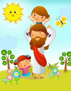 Sonia Lucas's media content and analytics Bible Crafts, Bible Art, Baby Kingdom, Jesus Cartoon, Sunday School Classroom, Pictures Of Christ, School Murals, Bible Illustrations, Christian Images