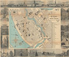 'Plan of Riga', National Library of Latvia and The European Library, public domain