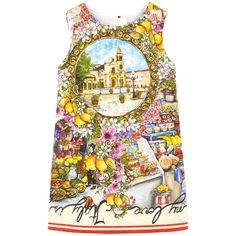 Brocade on the outside Synthetic lining Dress inspired by the women's wear range Pinafore dress Straight fit Crew neck Sleeveless Zipper in the back Exclusive print - $ 428.00