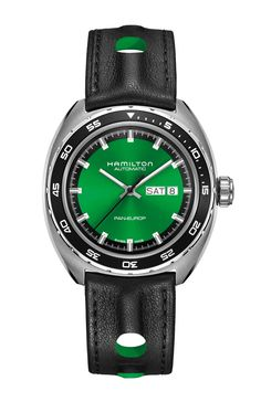 Discover a wide range of Hamilton men's watches including chronograph, automatic, classic, sports and dress watches. Swiss made watches never looked so good. Bracelet Nato, Bracelet Cuir, Cool Watches, Watches For Men, Wrist Watches, Men's Watches, Casual Watches, Fashion Watches, Men's Fashion