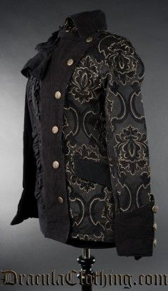 Black Jacquard Female Pirate Jacket
