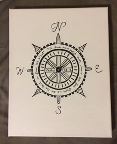 Items similar to Psalms Compass Canvas on Etsy My Compass, Compass Tattoo, 12 Tattoos, Tatoos, Scripture Tattoos, Dorm Art, Fairy Tales For Kids, Symbolic Tattoos, Bible Art