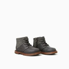 Image 2 of CLASSIC CONTRASTING BOOTS from Zara
