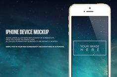 iPhone Device Mockup by MaulanaCreative Studio, via Behance