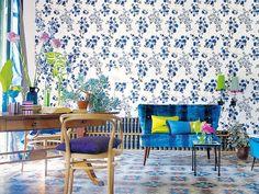 Viste la casa de flores: Se lleva el papel pintado