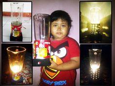 Kreasi kaleng kiriman Kirana Larasati Konsep : Kaleng menjadi lampu hias #KalengKreatifEMCO