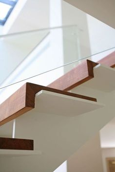 53 ideas for industrial stairs design railing ideas Redo Stairs, Open Stairs, Floating Stairs, Basement Stairs, House Stairs, Stair Handrail, Staircase Railings, Modern Staircase, Staircases