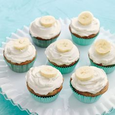 Banana Cupcakes with Honey-Cinnamon Frosting - Martha Stewart Recipes