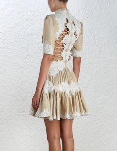 Mischief Rosette Laced Dress - Shop the Spring Runway - Occasion