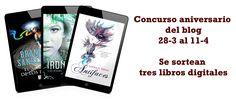 #Sorteo aniversario del #blog. Puedes ganar tres #libros digitales.