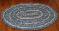 Crochet jean rag rug
