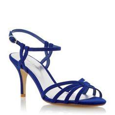 Royal Blue Mid Heels | Tsaa Heel