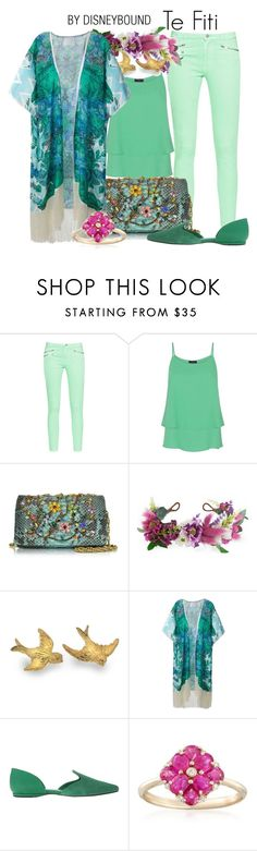 """""""Te Fiti"""" by leslieakay ❤ liked on Polyvore featuring French Connection, HotSquash, Ghibli, Rock 'N Rose, Athena Procopiou, Nine West, Ross-Simons, disney, disneybound and disneycharacter"""