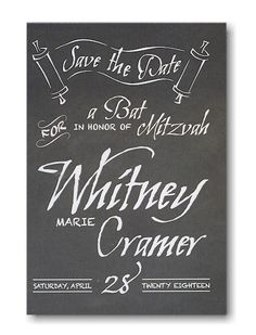 Chalkboard #Save #the #Date #Card