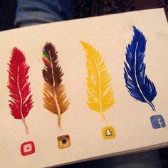 Social Media Feathers