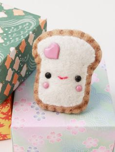 Kawaii Felt Plush Toast Ring  Teemie by swiedebie on Etsy, $11.90