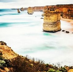 The amazing 12 apostles are a must see when your in Australia. Although by the rate they are falling down there may not be any of the 12 apostles left soon. So you better come visit them quick... by highheelsandwanderlust http://ift.tt/1ijk11S