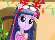 Twilight Sparkle Christmas Prep | juegos de besos - chicas amor jugar online