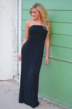 Beat Of My Heart Maxi Dress - Black from Closet Candy Boutique