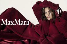 Max Mara burgundi - Fall 2017 collection