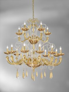 This grand version of the Topazia murano glass chandelier. Opulence and grandeur on a grand scale