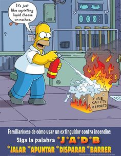 The Simpsons Safety Poster Safety Meeting, Safety Week, Lab Safety, Safety First, Food Safety, Driving Safety, Child Safety, Fire Safety Poster, Health And Safety Poster