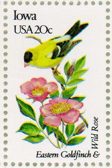 Iowa State Bird & Flower Stamp, 1982