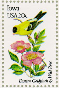 Iowa State Bird & Flower Stamp, 1982
