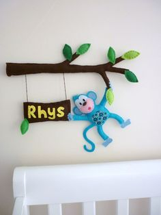 Who doesn't need a teal blue monkey hanging out in their house?