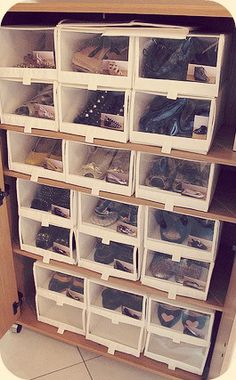 id es rangement chaussures on pinterest shoe box shoe storage and diy shoe storage. Black Bedroom Furniture Sets. Home Design Ideas