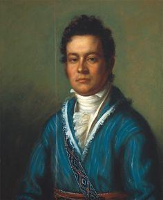* David Vann * 1825. Treasurer of the Cherokee Nation. (by Charles Bird King).