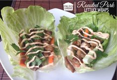 Paleo Roasted Pork Lettuce Wraps with Spicy Chili Sauce - paleocupboard.com