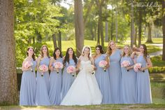 Woodland Fields Photography | Lakeside Country Club Houston | Houston Wedding Photographer | baby blue bridesmaids dresses | peony bouquets | garden rose bouquets