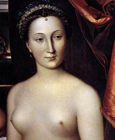 DIANE DE POITIERS 1571 mistress of Henri II / by CLOUET François - French (Tours circa 1515-1572 Paris)