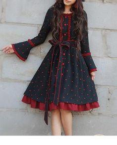 Long sleeve vintage style winterkleid from Regenbogen-Fashion by DaWanda.com
