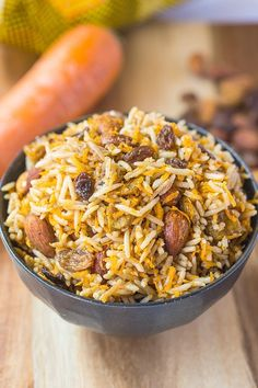Vegan Persian Rice Salad- A texture and flavour lover's dream- This salad is salty, sweet, savoury and perfect eaten hot or cold1
