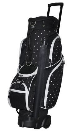 Keeps clubs organized for faster play and makes it easy to spot missing clubs, introducing RJ Sports Ladies Wheeled Transport Cart Bag! #lorisgolfshoppe