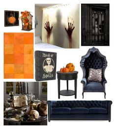 """Halloween Decor"" by agustdbunny ❤ liked on Polyvore featuring interior, interiors, interior design, home, home decor, interior decorating, Safavieh, Pier 1 Imports, Barclay Butera and Haute House"
