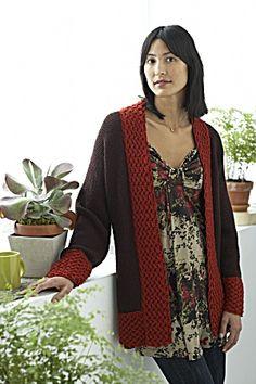 Free Knitting Pattern - Women's Cardigans: Textured Kimono Cardi