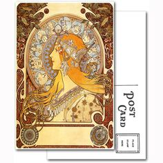 This digital art print of an oil painting from one of the foremost designers in the Art Nouveau style, is a must have for any art lover or Alphons Marie Mucha enthusiast. Our postcards are professiona