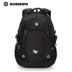 Promotion price Suissewin Brand Fashion Men's Casual Daily Backpack 15.6 inch Waterproof Laptop Quality Backpack Student Nylon Computer Backpack just only $40.39 with free shipping worldwide  #backpacksformen Plese click on picture to see our special price for you