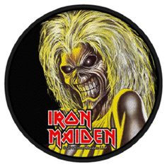 Iron Maiden Killers Face Circular Official Patch (10cm)