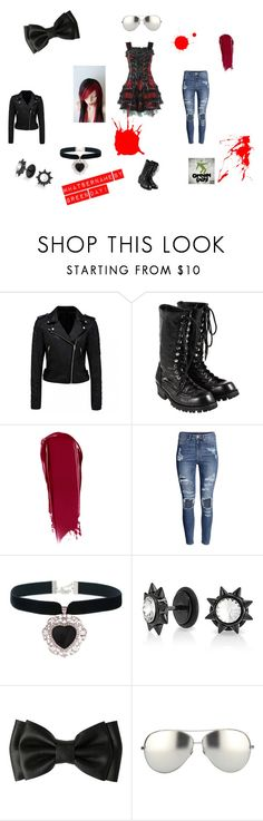 """""""Whatshername's Outfit"""" by sweetumkitty ❤ liked on Polyvore featuring Hell Bunny, Forever New, Comme des Garçons, NARS Cosmetics, H&M, Bling Jewelry, Hot Topic and Linda Farrow"""