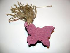 Wedding Favor Plantable Seed Paper Gift Tags in Mauve Shaped Like Butterflies by Davita, $9.00 for 20 tags, www.davita.etsy.com