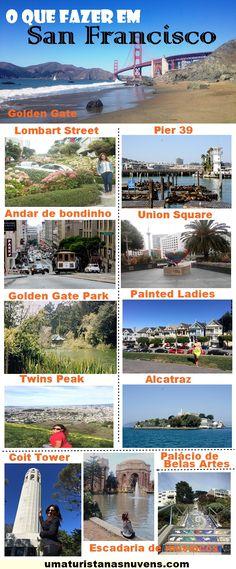 Dicas práticas do que fazer em San Francisco na Califórnia, a cidade onde encontra-se a Golden Gate, uma das pontes mais fotografadas do mundo.