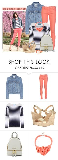 """Colored Denim-Coral"" by dgia ❤ liked on Polyvore featuring Closed, Mother, M.i.h Jeans, MICHAEL Michael Kors and Vintage"